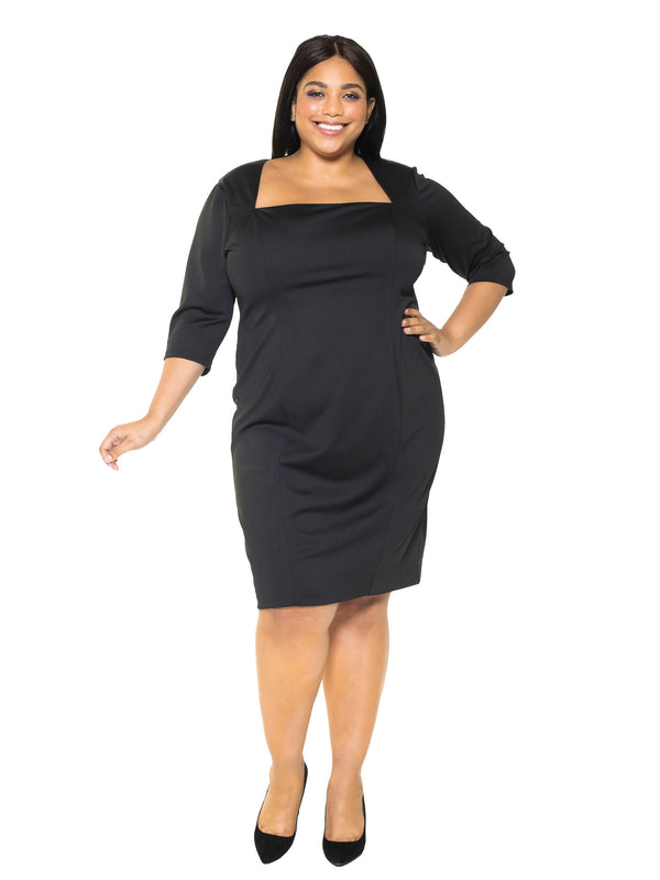 MARILYN PORTRAIT NECK SHEATH - PLUS SIZE