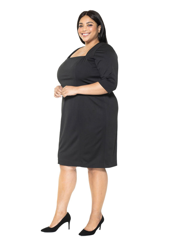 Marilyn Portrait Neck Sheath Dress- Plus Size
