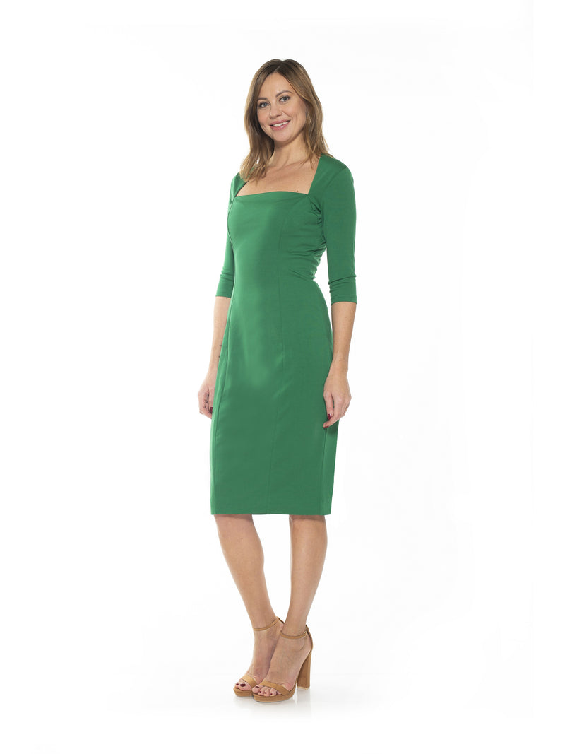 Marilyn Portrait Neck Sheath Dress