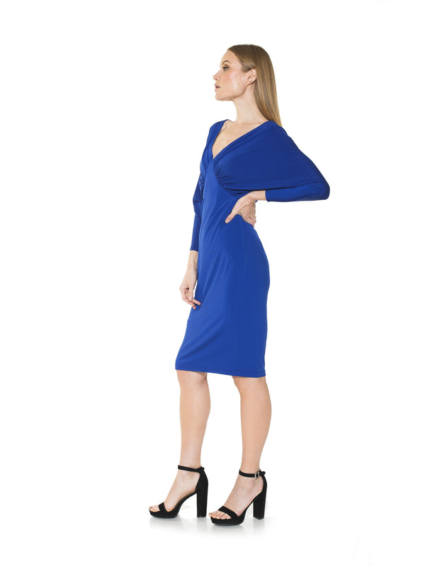 CHRISTINE DRAPED DOLMAN SLV SHEATH