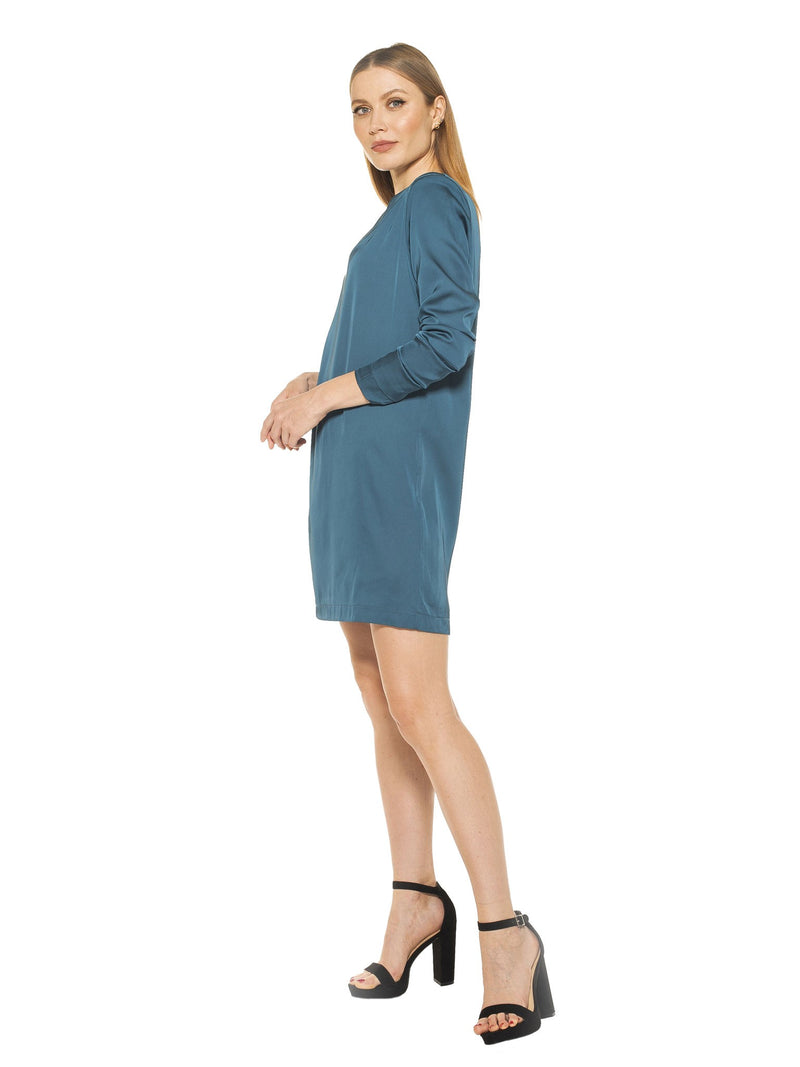 DAKOTA DRAPED SLEEVE SHIFT DRESS