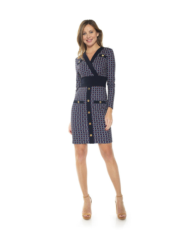 Xena Long Sleeve Contrast Dress