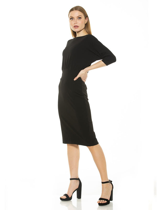 PARIS LONG SLV DOLMAN SHEATH DRESS