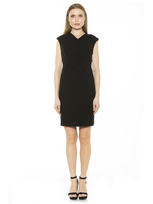 Wren Faux Surplice Sheath Dress