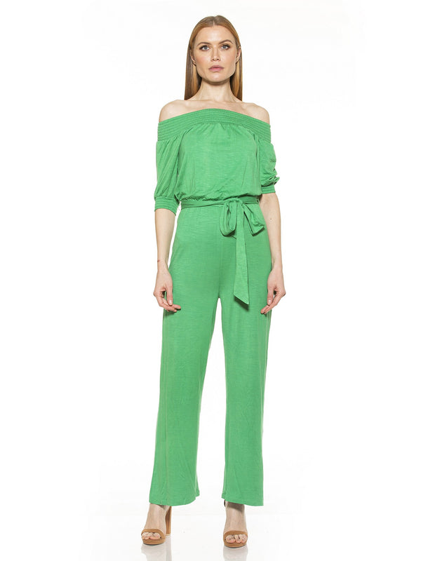 BREA OTS KNIT JUMPSUIT WITH BELT