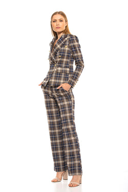 Kaitlyn Mid-Rise Plaid Pant [product_type)
