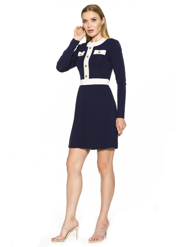 Simona Contrast Knit Dress [product_type)