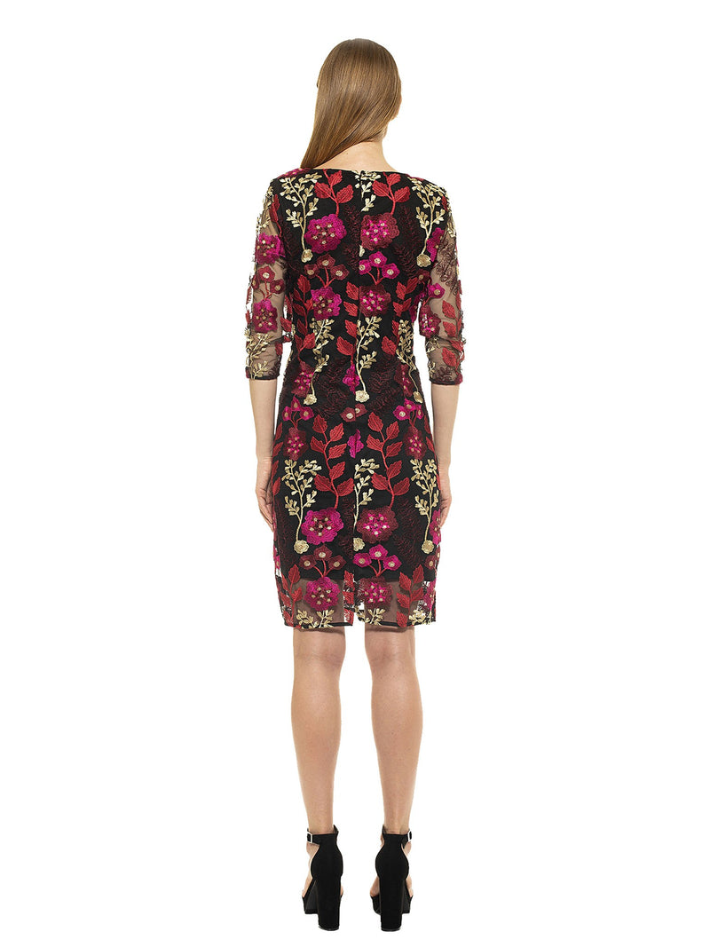 Mylene Embroidered Floral Sheath Dress [product_type)