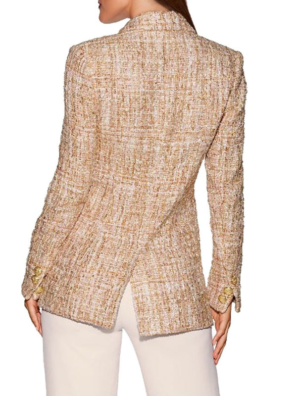 Blaire Double Breasted Tweed Jacket Top