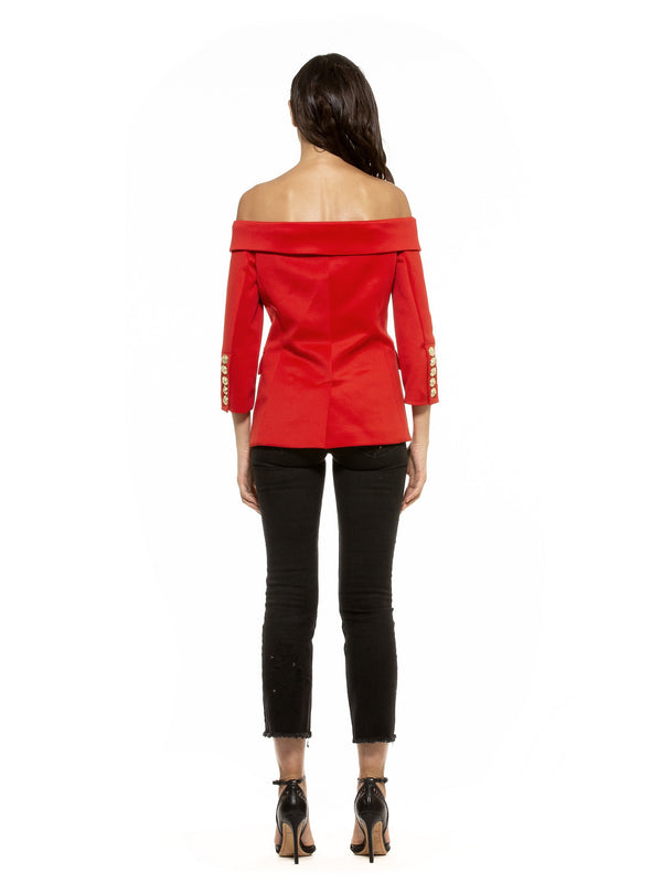 Ariel Off Shoulder Blazer - ALEXIA ADMOR