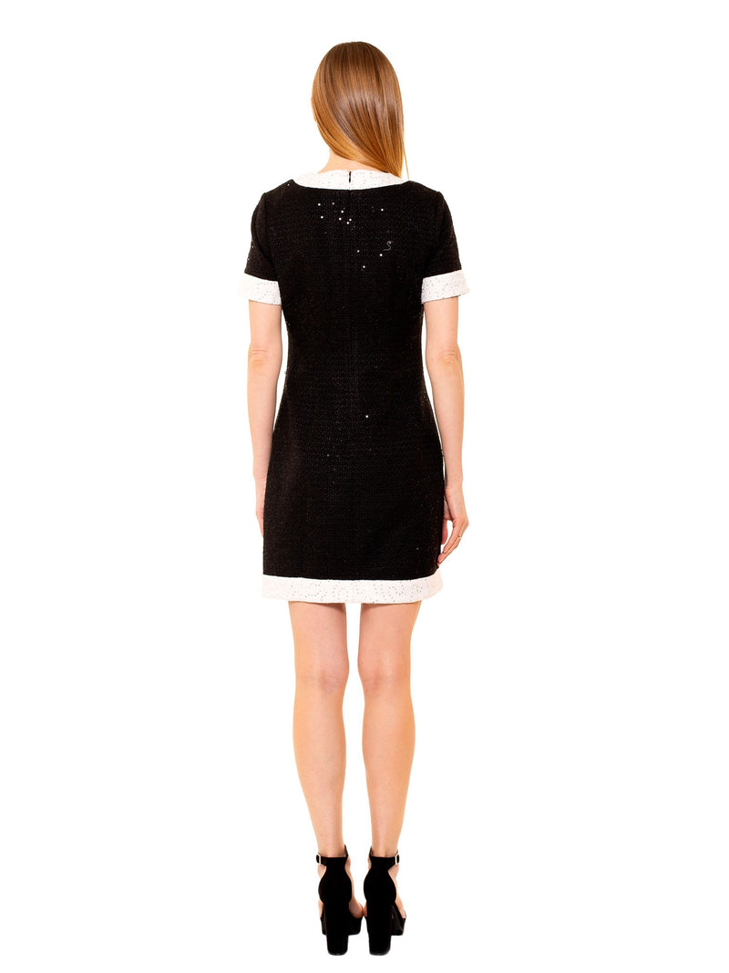 TAYLOR POLKA DOT DROPPED SHOULDER SHEATH [product_type)
