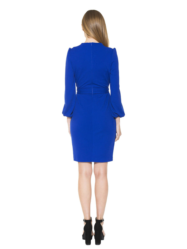 Aliana Surplice Sheath Dress