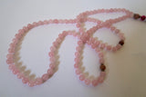 'I Am Love' Rose Quartz Mala Beads