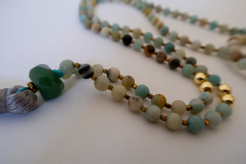 'Happiness & Harmony' Jade Mala Bead Set