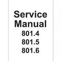 JCB 801.4, 801.5, 801.6 Mini Excavator Service Manual - 9803/3130-1