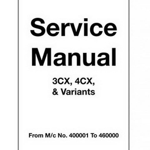 JCB 3CX, 4CX Backhoe Loader Service Manual - 9803/3260-9