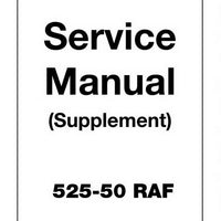 JCB 525-50 RAF Loadall Service Manual (Supplement) - 9803/3675