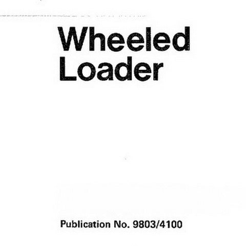 JCB 410, 412, 415, 420, 425, 430 Wheeled Loader Service Manual - 9803/4100-15