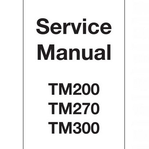 JCB TM200, TM270, TM300 Agricultural Loader Service Manual - 9803/4225-4