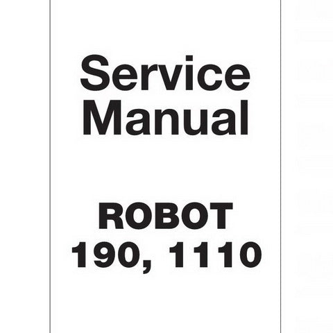 JCB Robot 190, 1110 Skid Steer Loader Service Manual - 9803/8530-8