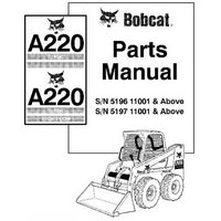 Bobcat A220 Wheel Loader Parts Manual - 6901502 (10-01)