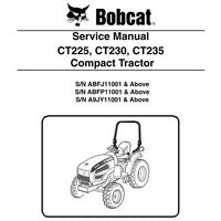 Bobcat CT225, CT230, CT235 Compact Tractor Service Manual - 6987029 (6-11)