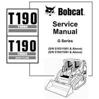 Bobcat T190 G-Series Compact Track Loader Service Manual - 6901117 (2-06)