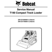 Bobcat T190 Compact Track Loader Service Manual - 6987043 (8-09)