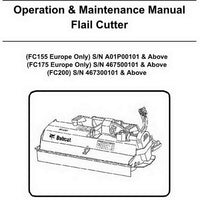Bobcat FC155-FC200 Flail Cutter Operation and Maintenance Manual - 6903299enUS (03-15)
