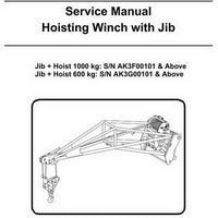 Bobcat Hoisting Winch with Jib Service Manual - 6989514-EN (6-10)