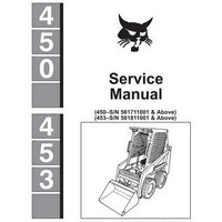 Bobcat 450, 453 Skid-Steer Loader Service Manual - 6724259 (1–96)