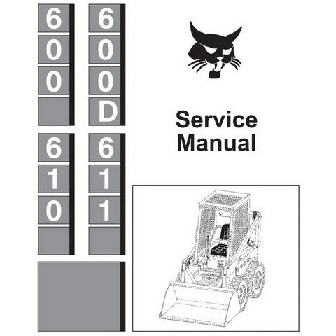 Bobcat 600, 600D, 610, 611 Skid-Steer Loader Service Manual - 6556276 (6–87)