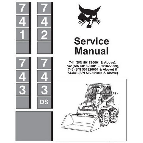 Bobcat 741, 742, 743, 743DS Skid-Steer Loader Service Manual - 6566109 (4–88)