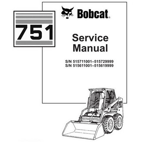 Bobcat 751 Skid-Steer Loader Service Manual - 6900443 (9–97)