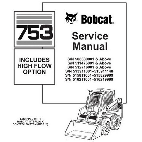 Bobcat 753, 753H Skid-Steer Loader Service Manual - 6900090 (6–97)