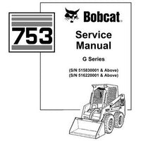 Bobcat 753 G-Series Skid-Steer Loader Service Manual - 6900976 (9-10)