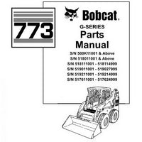 Bobcat 773 Skid-Steer Loader Parts Manual - 6900939 (5-05)