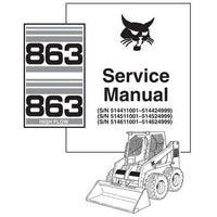 Bobcat 863, 863H Skid-Steer Loader Service Manual - 6724799 (7-10)