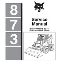 Bobcat 873 Skid-Steer Loader Service Manual - 6724280 (7-10)
