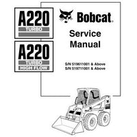 Bobcat A220 TURBO - HIGH FLOW Skid-Steer Loader Service Manual - 6901245 (7-10)