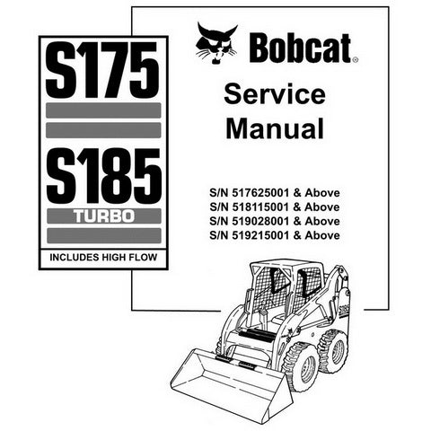 Bobcat S175, S185 Turbo Skid-Steer Loader Service Manual - 6901828 (11-08)