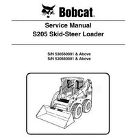 Bobcat S205 Skid-Steer Loader Service Manual - 6987037 (7-09)