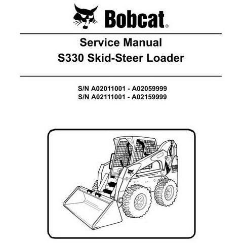 Bobcat S330 Skid-Steer Loader Service Manual - 6904887 (3-09)