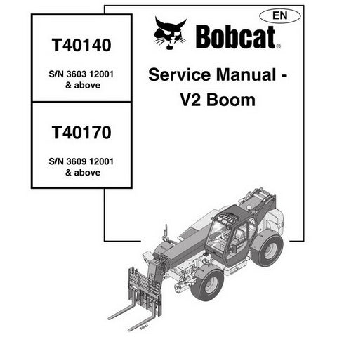 Bobcat T40140 / T40170 Telescopic Handler Service Manual - 4852040 (08-03)