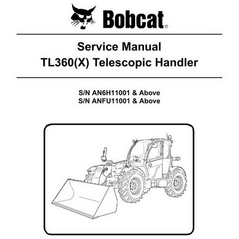 Bobcat TL360(X) Telescopic Handler Service Manual - 6990100 (05-11)