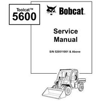 Bobcat Toolcat 5600 Utility Work Machine Service Manual - 6901892 (5-09)