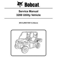 Bobcat 3200 Utility Vehicle Service Manual - 6989598 (9-10)