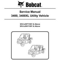 Bobcat 3400, 3400XL Utility Vehicle Service Manual - 6989602 (9-10)