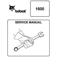 Bobcat 1600 Wheel Loader Service Manual - 6566906 (8-87)