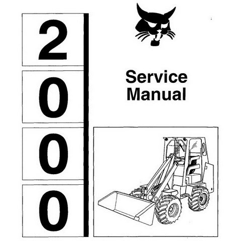 Bobcat 2000 Wheel Loader Service Manual - 6566180 (4-85)